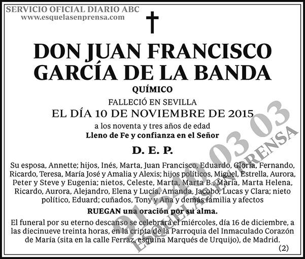 Juan Francisco García de la Banda